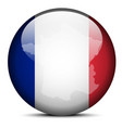 Map on flag button of french republic france vector