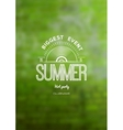 Summer biggest event label logo on the background vector