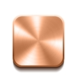 Realistic bronze button vector