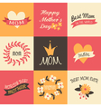 Mothers day vintage design greeting cards set vector