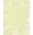 Hand draw flowers on beige background vector