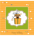 Funny birthday card with dog vector