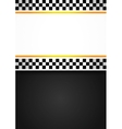 Taxi blank racing background vector