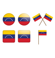 Badges with flag of venezuela vector