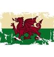 Wales grunge flag vector