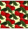 Seamless texture - bright juicy fresh cherry fruit vector
