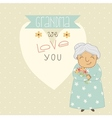 Card for grandma vector