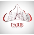 Paris city emblem vector