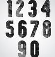 Black and white dotty graphic decorative numbers vector