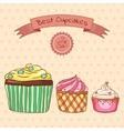 Beautiful card best cupcakes vector