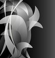 Black and white flower isolated background dark vector