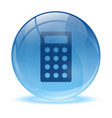 3d glass sphere and calculator icon vector
