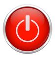 Red close icon vector