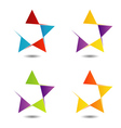 Set of colorful star logos vector