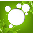 Green eco background with web speech bubble vector