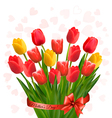 Holiday background with bouquet of colorful vector
