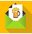 Beer concept with mug on a letter background vector