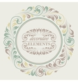 Floral frame with decorative elements vector