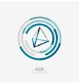 Pyramid shape line design vector