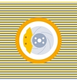 Car brake discs color flat icon vector