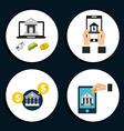 Money icons vector