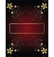 Gold frame on a dark background with flowers vector