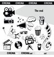 Cinema sign set vector
