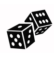Dice cubes icon vector