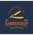 Barbershop vintage label or logo template vector