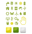 Environment and ecology icons set vector