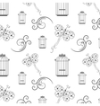 Seamless black and white pattern from tree vector