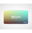 Modern simple gift card template vector