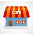 Restaurant 3d building vector
