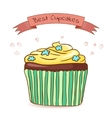 Beautiful card best cupcakes vector