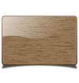 Wooden card vector
