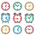 Clock symbols vector