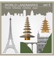 World landmarks icon set elements for creating vector