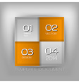 Business four squares orange with text vector