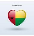 Love guinea-bissau symbol heart flag icon vector