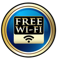 Free wifi emblem vector