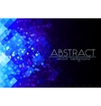 Bright blue grid abstract horizontal background vector