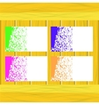 Banners of colored splashes paint vector