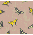 Seamless texture with butterflies vector