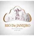 Rio de janeiro city emblem vector