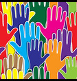 People support hand like heart united seamless vector