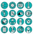 Time management icons vector