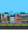 Flat design urban landscape of a street with vector