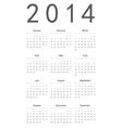 Simple calendar 2014 vector