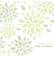 Fabric textured abstract leaves corner frame vector