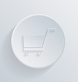 Paper circle flat icon cart online store vector
